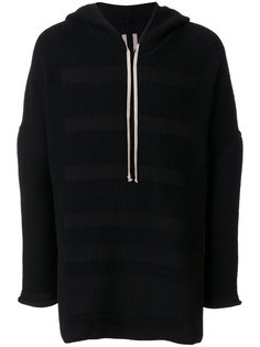 striped knitted hoodie Rick Owens