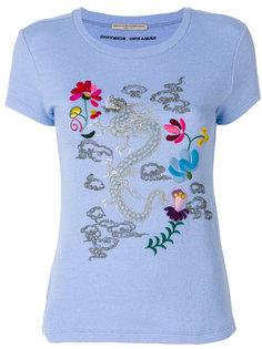 футболка с вышитым драконом  Ermanno Scervino