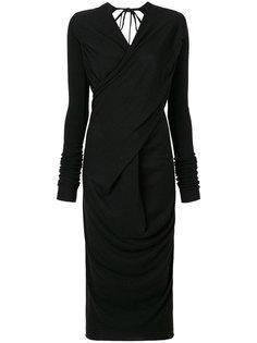 трикотажное платье с запахом спереди  Rick Owens Lilies