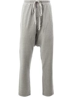 спортивные брюки с заниженной проймой Rick Owens DRKSHDW