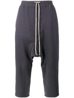 брюки на шнурке с заниженной проймой Rick Owens DRKSHDW