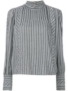 рубашка с высоким воротом в полоску  Isabel Marant Étoile