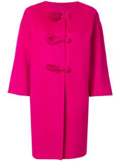 пальто с цветочными деталями Ermanno Scervino