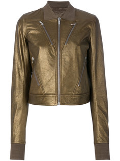 куртка-бомбер  с отделкой металлик  Rick Owens