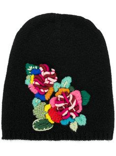 шапка с цветочной вышивкой Ermanno Scervino