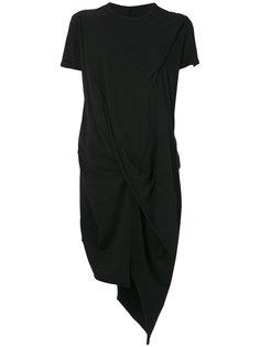 асимметричная футболка со вставками  Rick Owens DRKSHDW