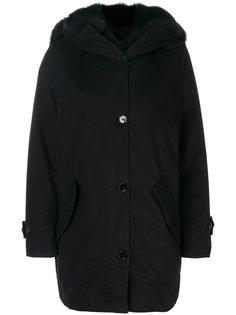 пальто с меховой оторочкой Ermanno Scervino