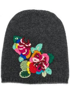 вязаная шапка с цветочной вышивкой Ermanno Scervino