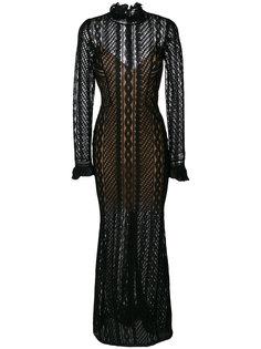 прозрачное приталенное платье-макси Ermanno Scervino