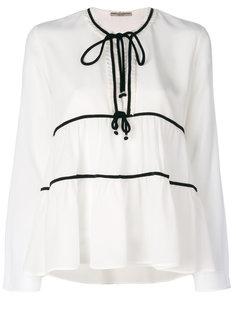 блузка с оборкой  Ermanno Scervino