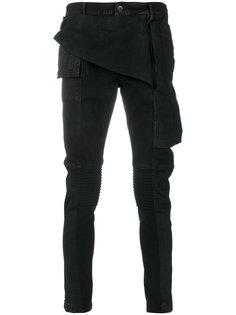 байкерские джинсы скинни Rick Owens DRKSHDW