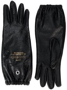 перчатки из кожи ягненка Balenciaga