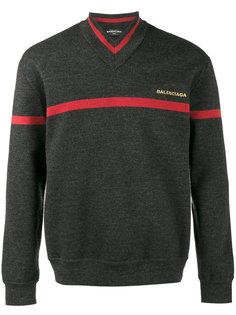 свитер с V-образным вырезом Balenciaga