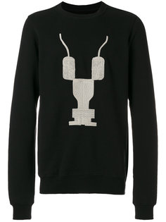 patterned crew neck sweatshirt  Rick Owens DRKSHDW