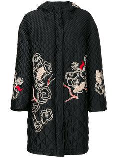 стеганое пальто с вышивкой  Ermanno Scervino