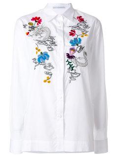 рубашка с цветочной отделкой  Ermanno Scervino