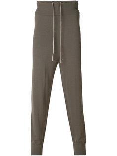 спортивные брюки с заниженным шаговым швом Rick Owens