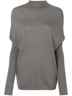 вязаный свитер с имитацией кейпа Rick Owens