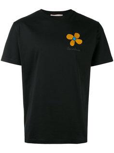 футболка в стиле унисекс с вышитым цветком Christopher Kane