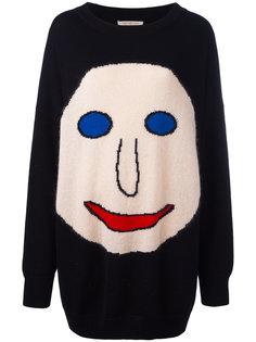 свитер с лицом в технике интарсия Christopher Kane