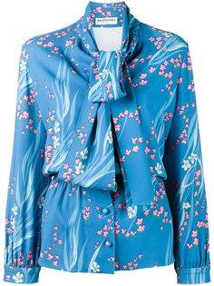 блузка с цветочным рисунком Balenciaga