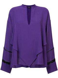 блузка с V-образным вырезом Derek Lam