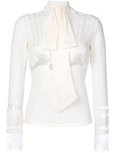 блузка с длинными рукавами и кружевной вставкой  Ermanno Scervino