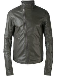 байкерская куртка с асимметричной молнией Rick Owens