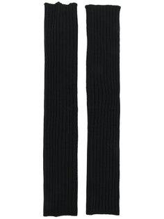 длинные перчатки без пальцев  Rick Owens