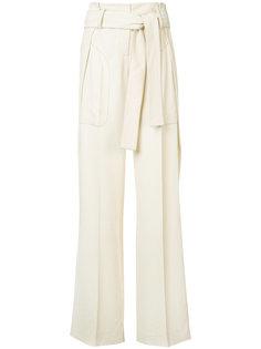 широкие брюки с поясом  Derek Lam