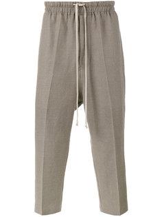 брюки на шнурке с заниженной проймой Rick Owens