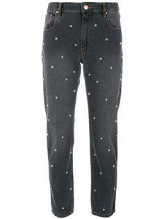 джинсы с жемчужной отделкой  Isabel Marant Étoile