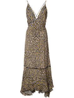 платье миди с леопардовым принтом Derek Lam