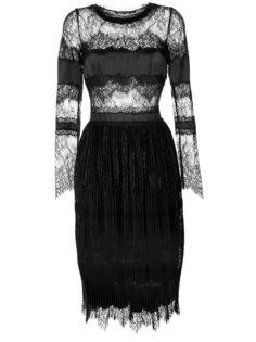 полупрозрачное кружевное платье  Ermanno Scervino