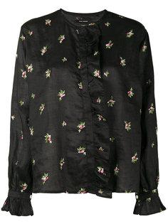 рубашка с цветочной отделкой Uamos Isabel Marant