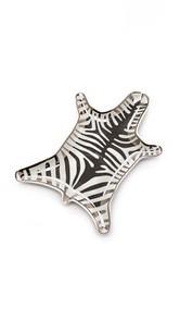 Jonathan Adler Metallic Zebra Dish