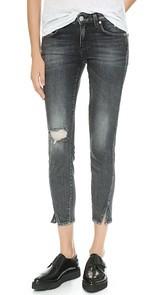 AMO Twist Skinny Ankle Jeans