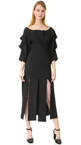A.W.A.K.E. Draped Sleeve Dress Awake