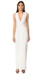 Badgley Mischka Collection Twist Front Gown