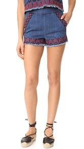 Blank Denim Blue Note Shorts