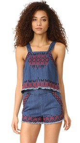 Blank Denim Blue Note Tank