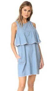Blank Denim Frill Seeker Tank Dress