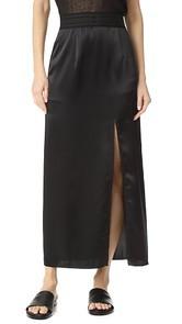 Baja East Satin Skirt