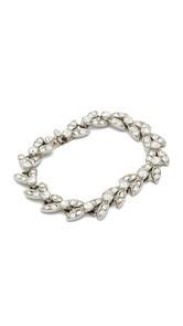 Ben-Amun Crystal Leaves Bracelet
