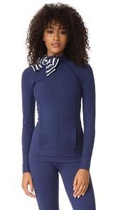 Beyond Yoga x Kate Spade New York Sailing Stripe Neck Bow Jacket
