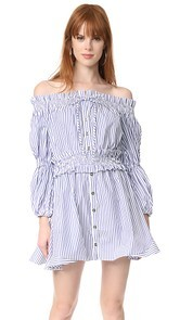 Caroline Constas Peasant Dress