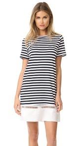 Clu Contrast Bottom Stripe Dress