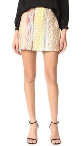 Cynthia Rowley Rainbow Metallic Skirt