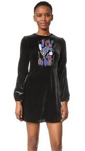 Cynthia Rowley Velvet Bell Sleeve Dress