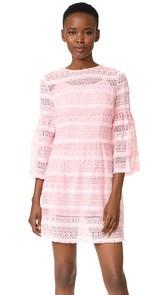 Cynthia Rowley Eyelet Bell Sleeve Dress